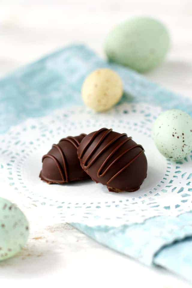 Chocolate Caramel Easter Eggs (Dairy Free). - The Pretty Bee