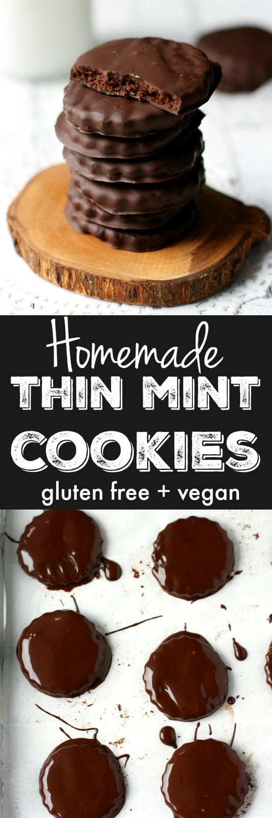You can indulge in your favorite Girl Scout Cookies! Dark chocolate and mint combine to make these homemade thin mints extra delicious!
