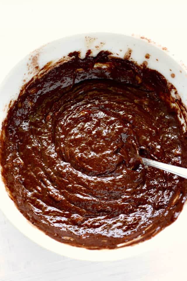 chocolate banana bread batter