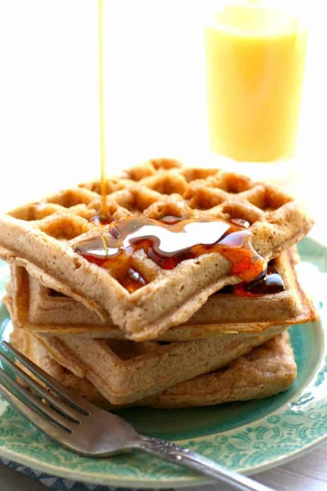 Cinnamon Sugar Egg Free Waffles The Pretty Bee