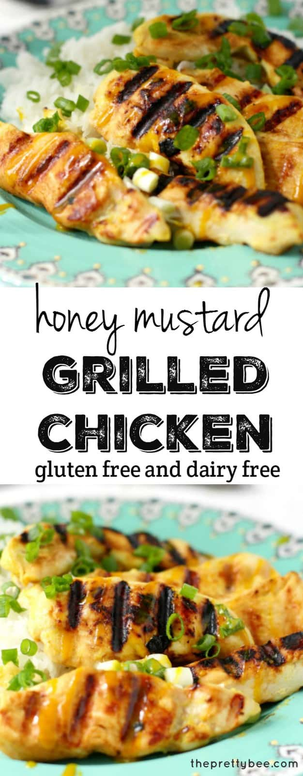 A flavorful honey mustard marinade results in tender, flavorful, juicy chicken! A perfect grilling recipe for summer.