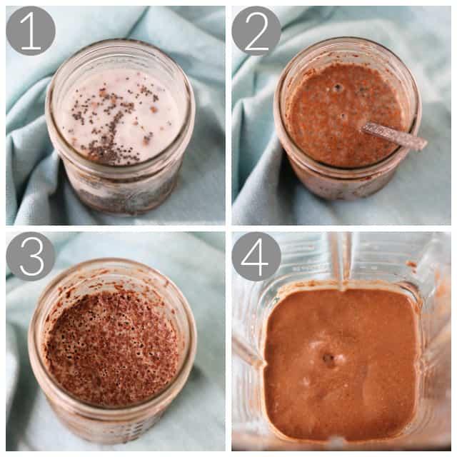 how to make creamy chocolate chia pudding