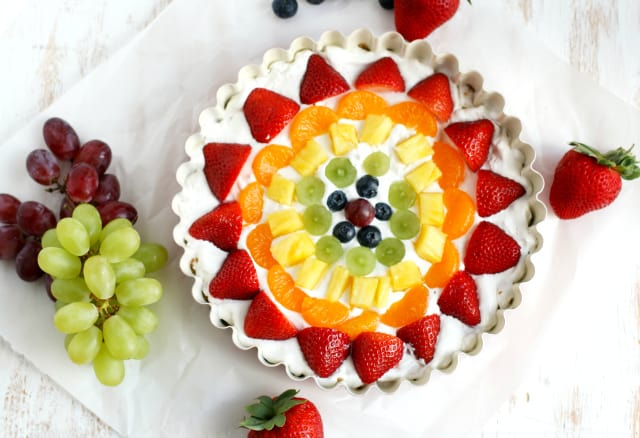 This no-bake rainbow fruit tart is delicious, beautiful, and so easy to make, too!
