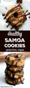 Delicious no-bake, grain free samoa cookies are a healthier treat!