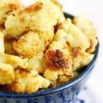 Cheesy Roasted Cauliflower (Vegan and Gluten Free).