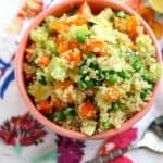 Vegan Quinoa Salad with Zucchini.