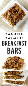 Soft and chewy chocolate oatmeal breakfast bars are a great way to start the day!