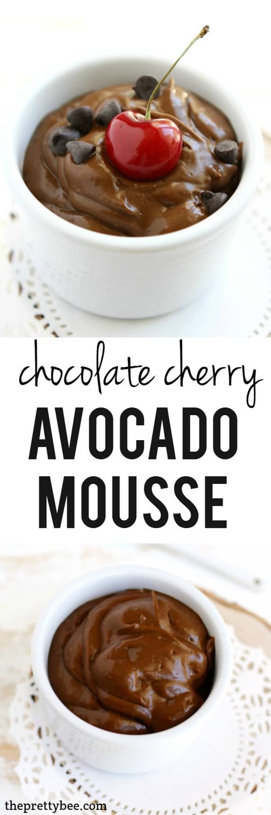 This chocolate cherry avocado pudding is so creamy, delicious, and healthy!