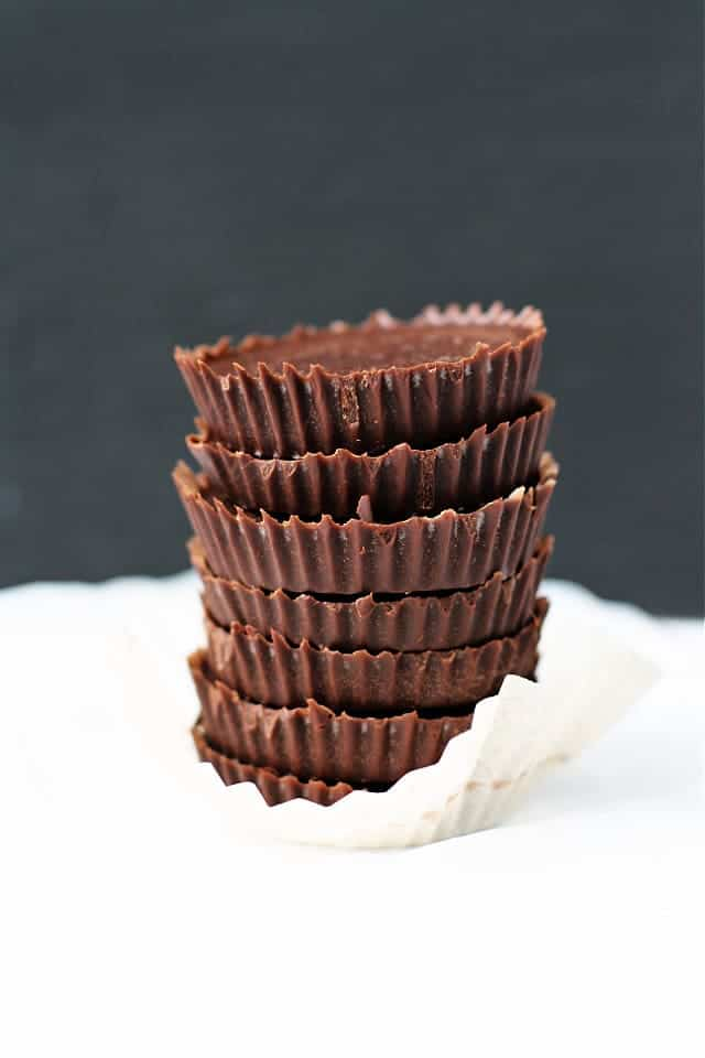 stack of homemade chocolate candy