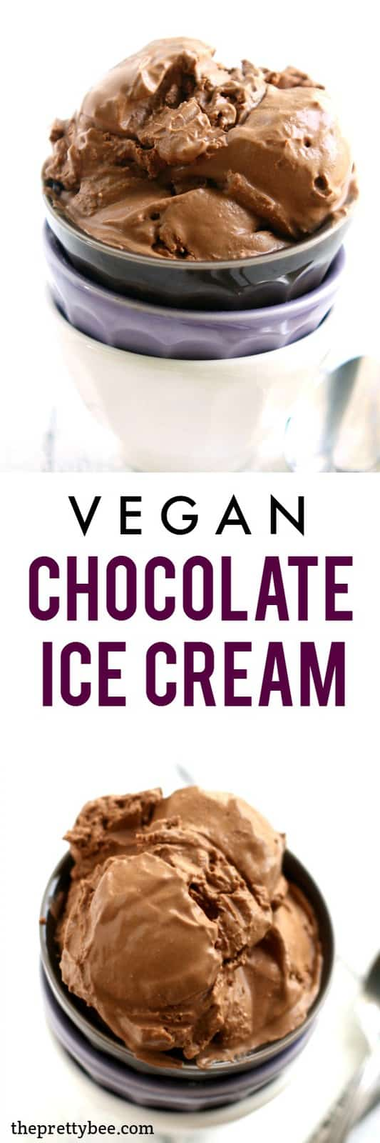 The best vegan chocolate ice cream, and it's made with just FIVE ingredients!