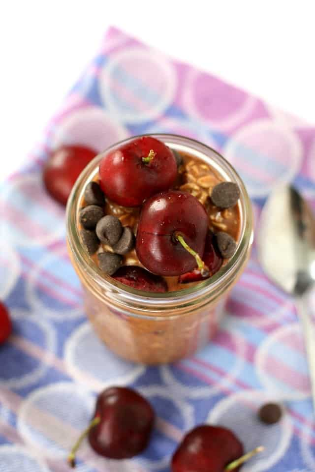 dairy free chocolate overnight oats