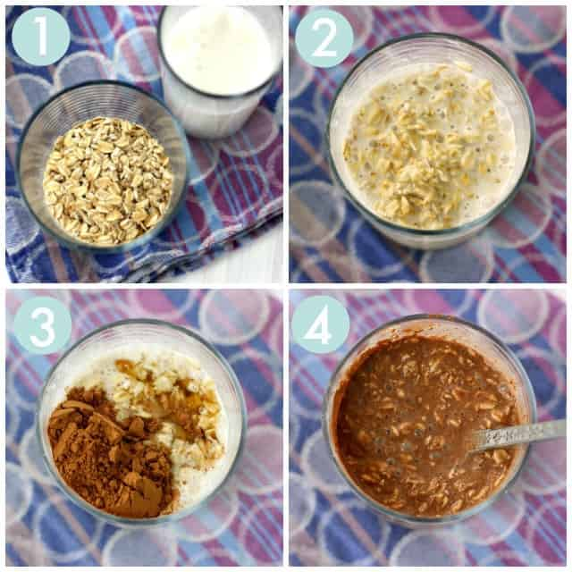 how to make chocolate overnight oatmeal