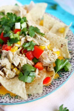 mexican chicken with cilantro and peppers