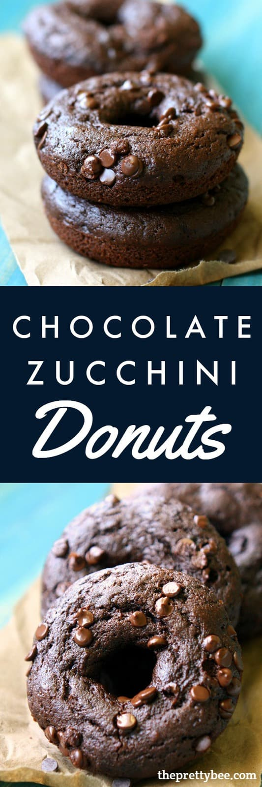 The perfect way to use up some zucchini - make these chocolate zucchini donuts! A delicious dessert or breakfast recipe that the whole family will love! #vegan #dairyfree