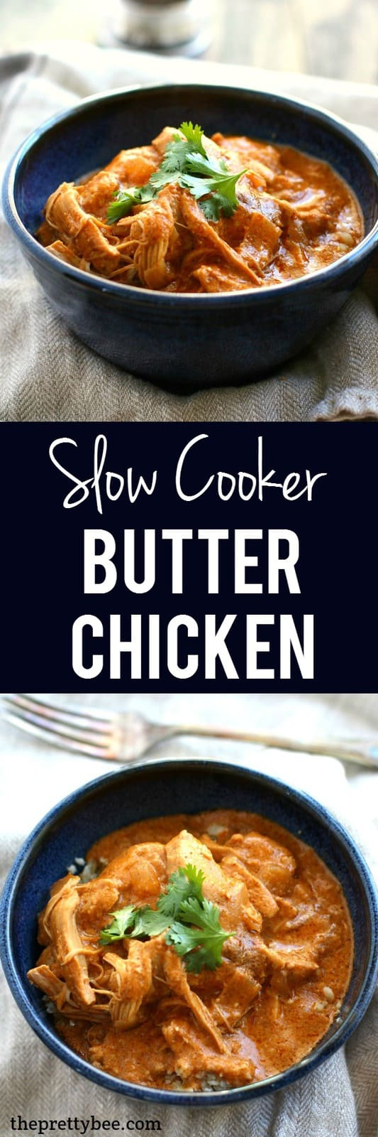 Comforting, delicious, creamy butter chicken is dairy free and made in the slow cooker!