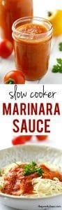 Slow cooker tomato sauce is easy to make, and a great way to use up all those garden tomatoes!