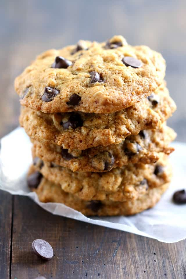 gluten free coconut chocolate chip oatmeal cookies
