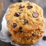 Toasted Coconut Chocolate Chip Oatmeal Cookies.