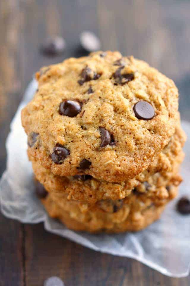 Toasted coconut chocolate chip oatmeal cookies