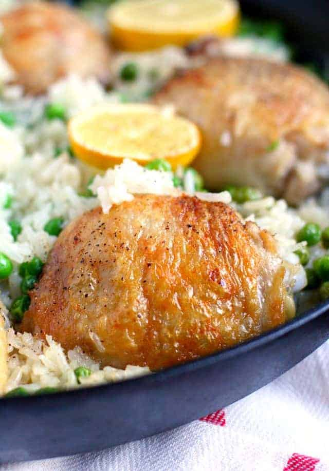 easy skillet chicken and rice