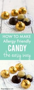 How to make allergy friendly candy the easy way. Save time and money making your own allergen free treats!