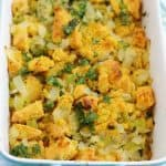 Gluten free and vegan cornbread stuffing is sure to satisfy everyone at your Thanksgiving table!