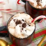Dairy Free Peppermint Hot Cocoa.