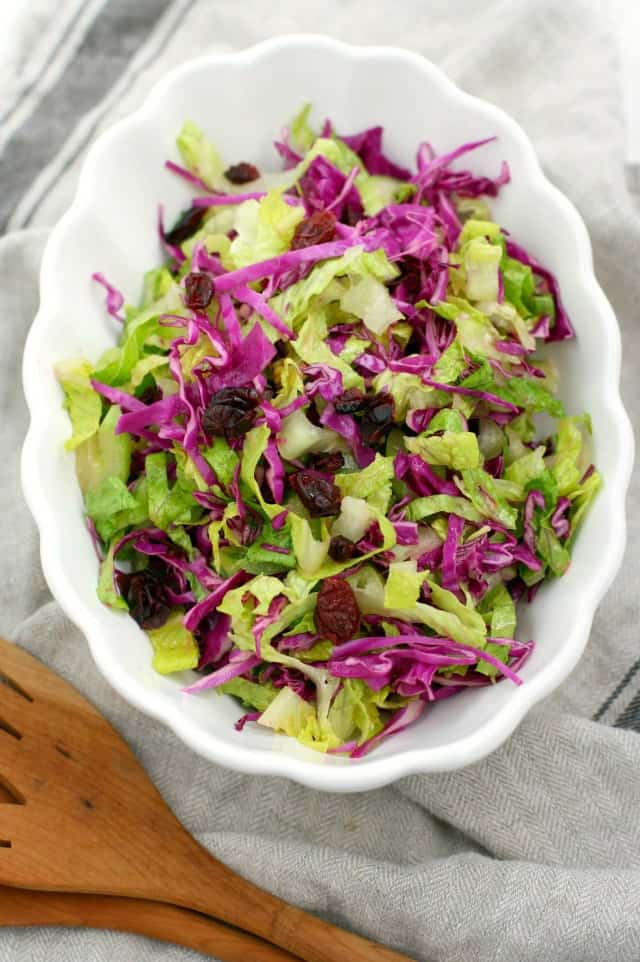 green salad with homemade dressing