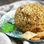 A creamy, flavorful vegan cheese ball is the perfect party appetizer!