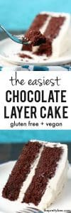 An EASY, gluten free, vegan, allergy friendly layer cake that will hold together and tastes delicious!