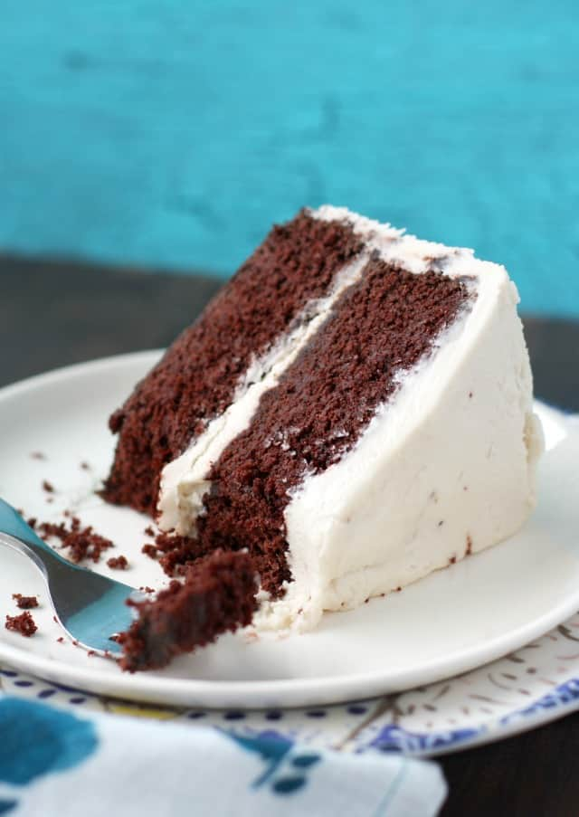 The easiest double layer chocolate cake - perfect for any party!