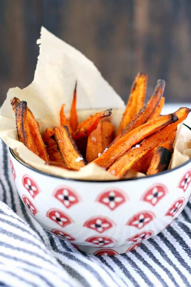 Easy And Healthy Baked Sweet Potato Fries The Pretty Bee