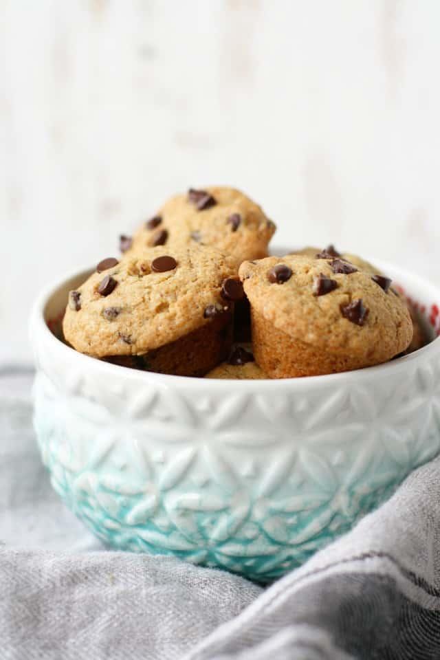 Vegan chocolate chip cookie mini muffin recipe
