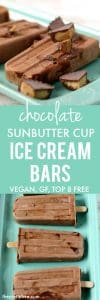 chocolate sunbutter cup ice cream bars