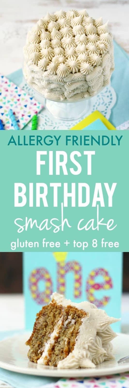 Awesome First Birthday Smash Cake Gluten Free Allergy Friendly The Funny Birthday Cards Online Alyptdamsfinfo