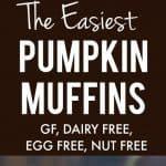 easy vegan gluten free pumpkin muffin recipe