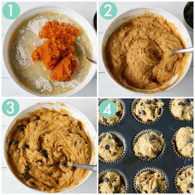 how to make dairy free pumpkin muffins