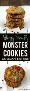 monster cookie recipe without nuts