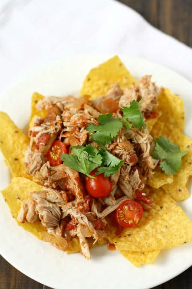 tortilla chips with mexican chicken