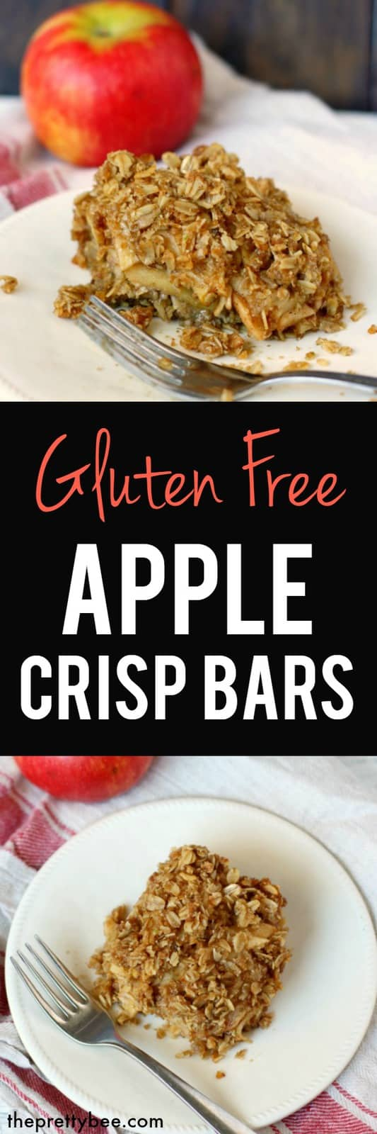 These apple crisp bars are delicious and perfect for Thanksgiving! #glutenfree #vegan