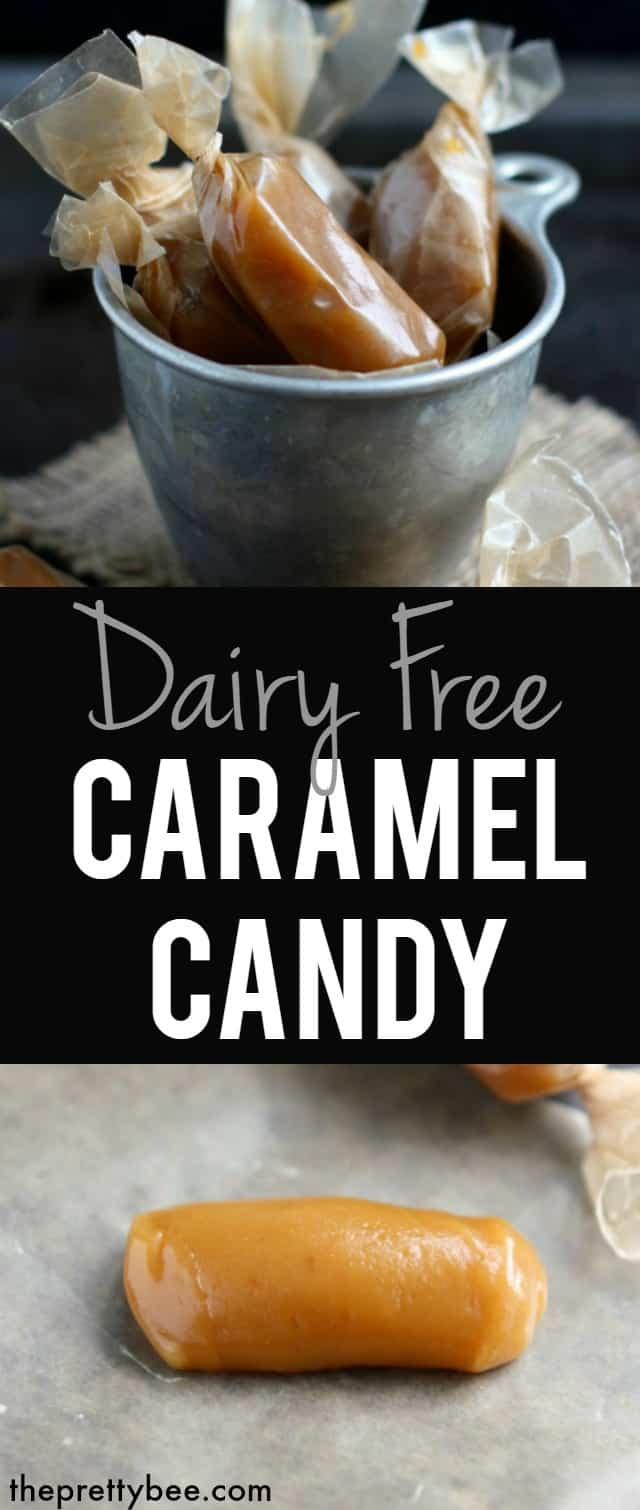 Dairy free caramels are sweet, salty, and so delicious! #glutenfree #dairyfree #vegan
