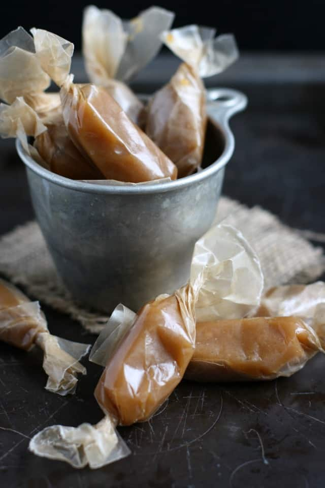 Dairy Free Caramel Candy  - The Pretty Bee