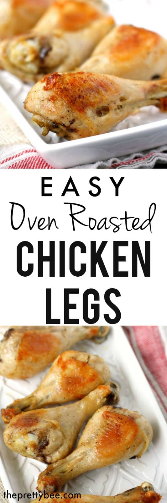 These easy oven roasted chicken legs are tender, juicy, and so flavorful! #glutenfree #dairyfree