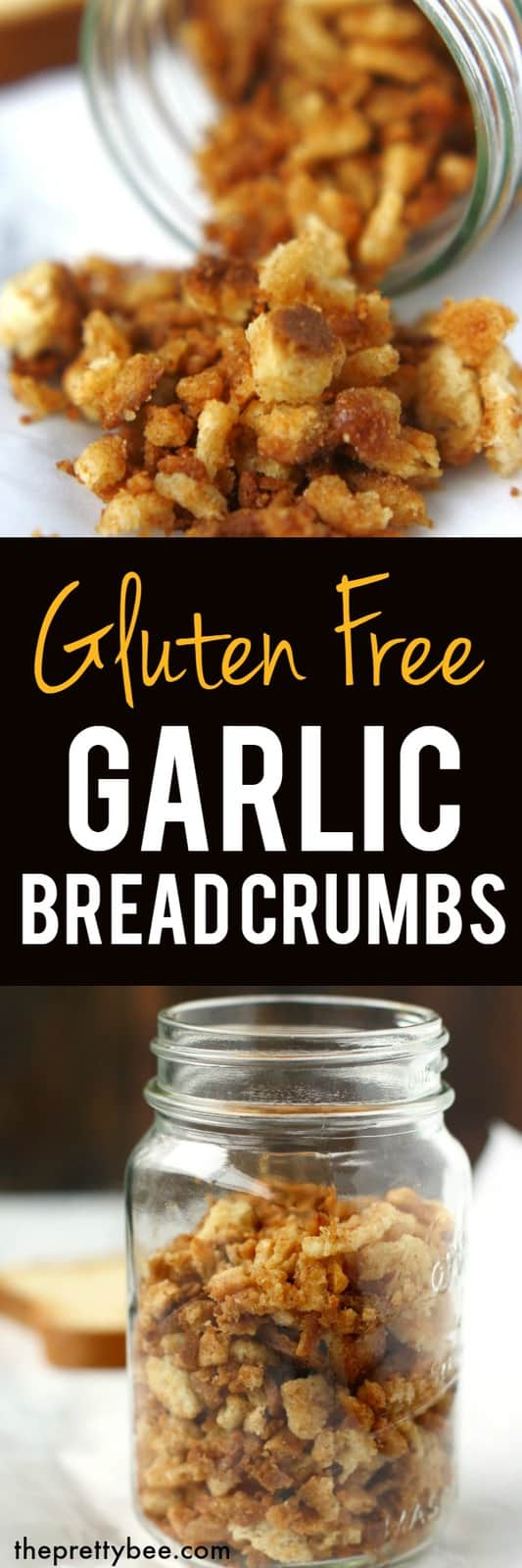 It's easy to make these gluten free bread crumbs at home. These are buttery, garlicky, and so delicious. #glutenfree