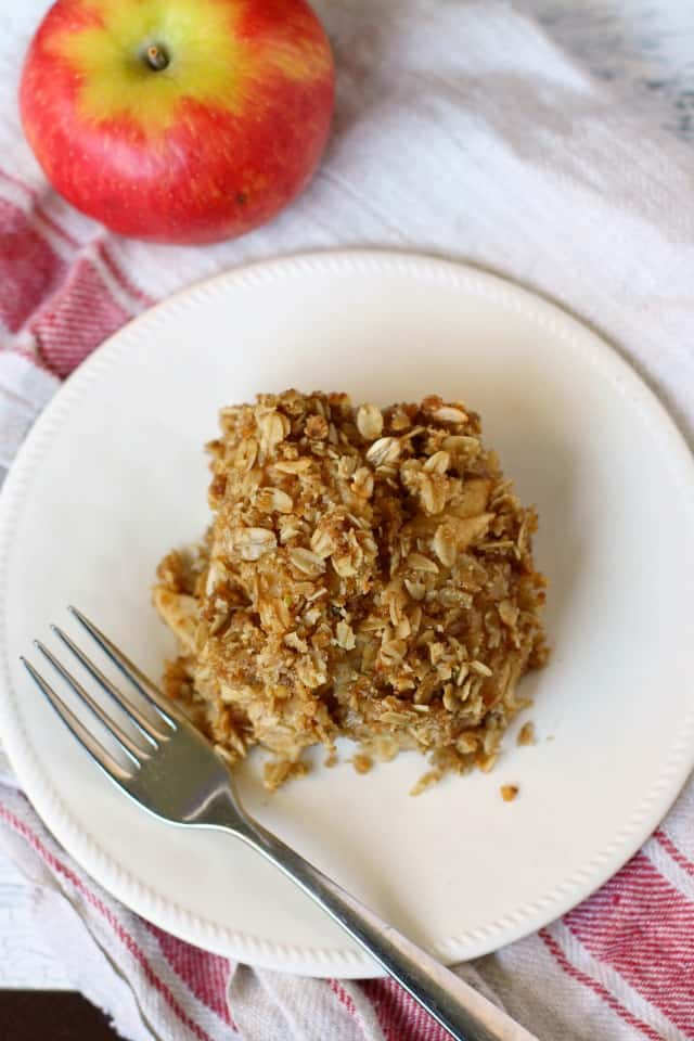 vegan apple crisp bars