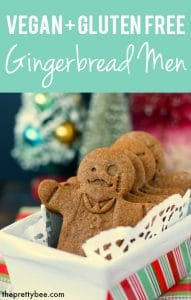 vegan gluten free gingerbread man cookies