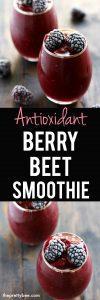 antioxidant berry beet smoothie