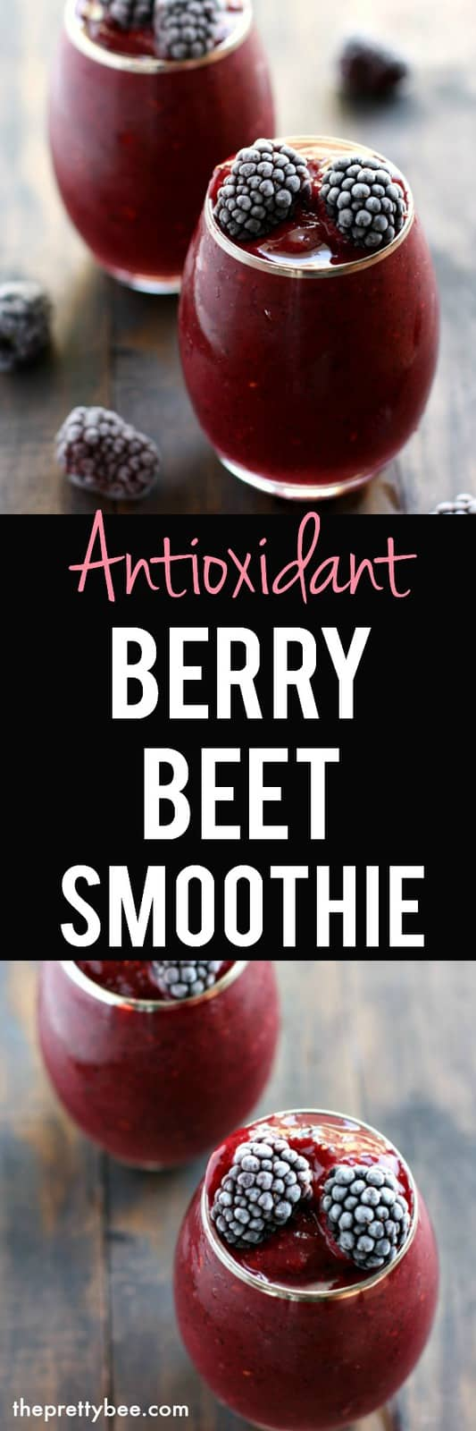 A healthy berry beet smoothie that's delicious and loaded with antioxidants, too!