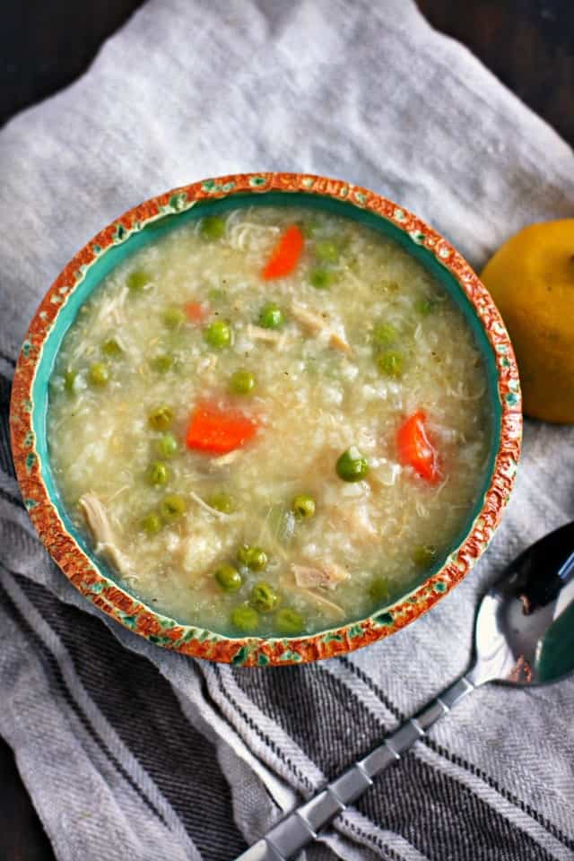 chicken lemon rice soup