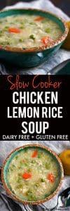 slow cooker chicken lemon rice soup